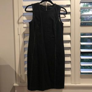 Ralph Lauren black denim shift dress